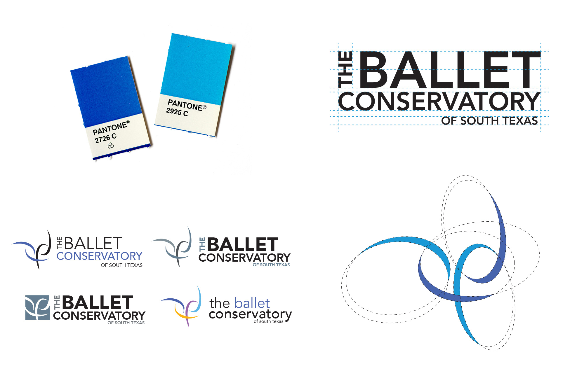 updated logo design for The Ballet Conservatory of South Texas