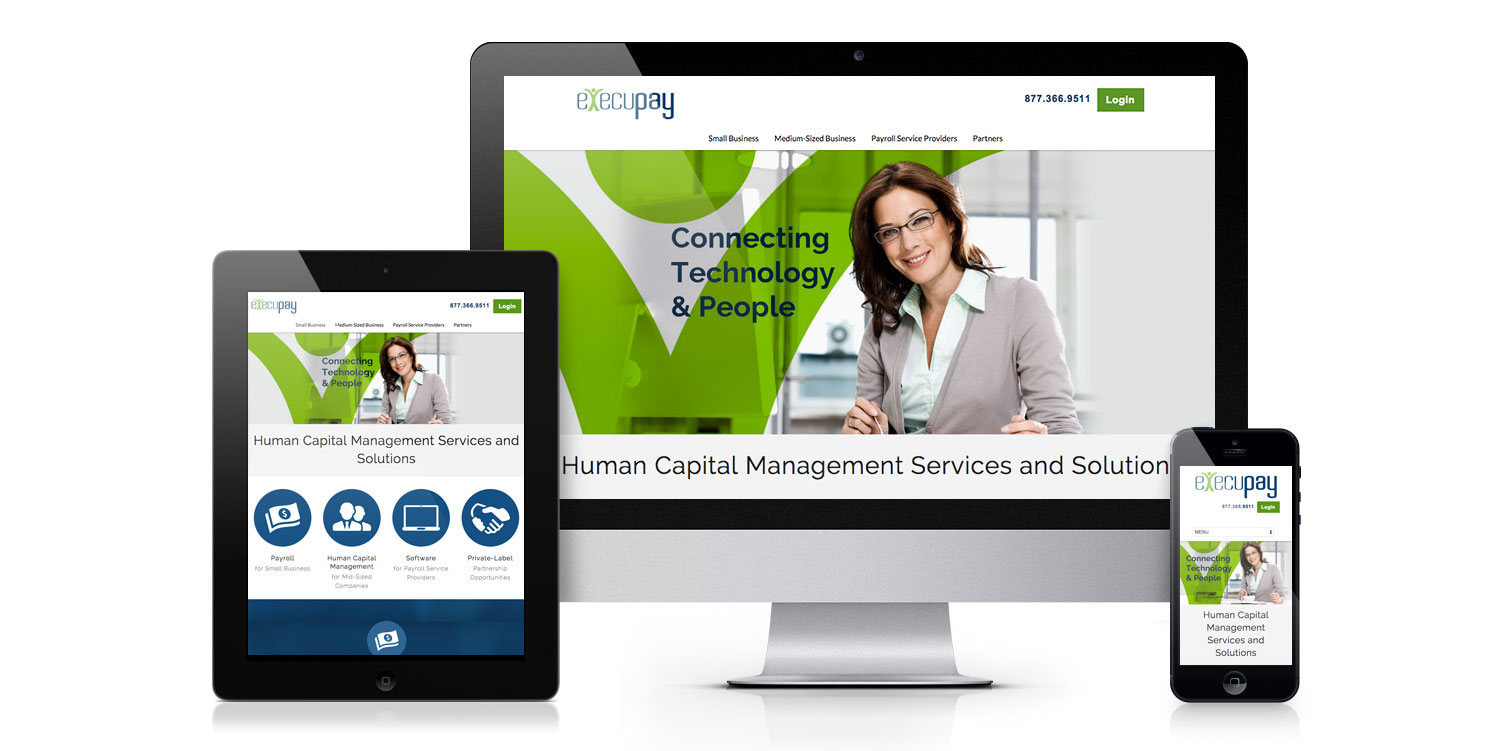 Execupay HR services web design
