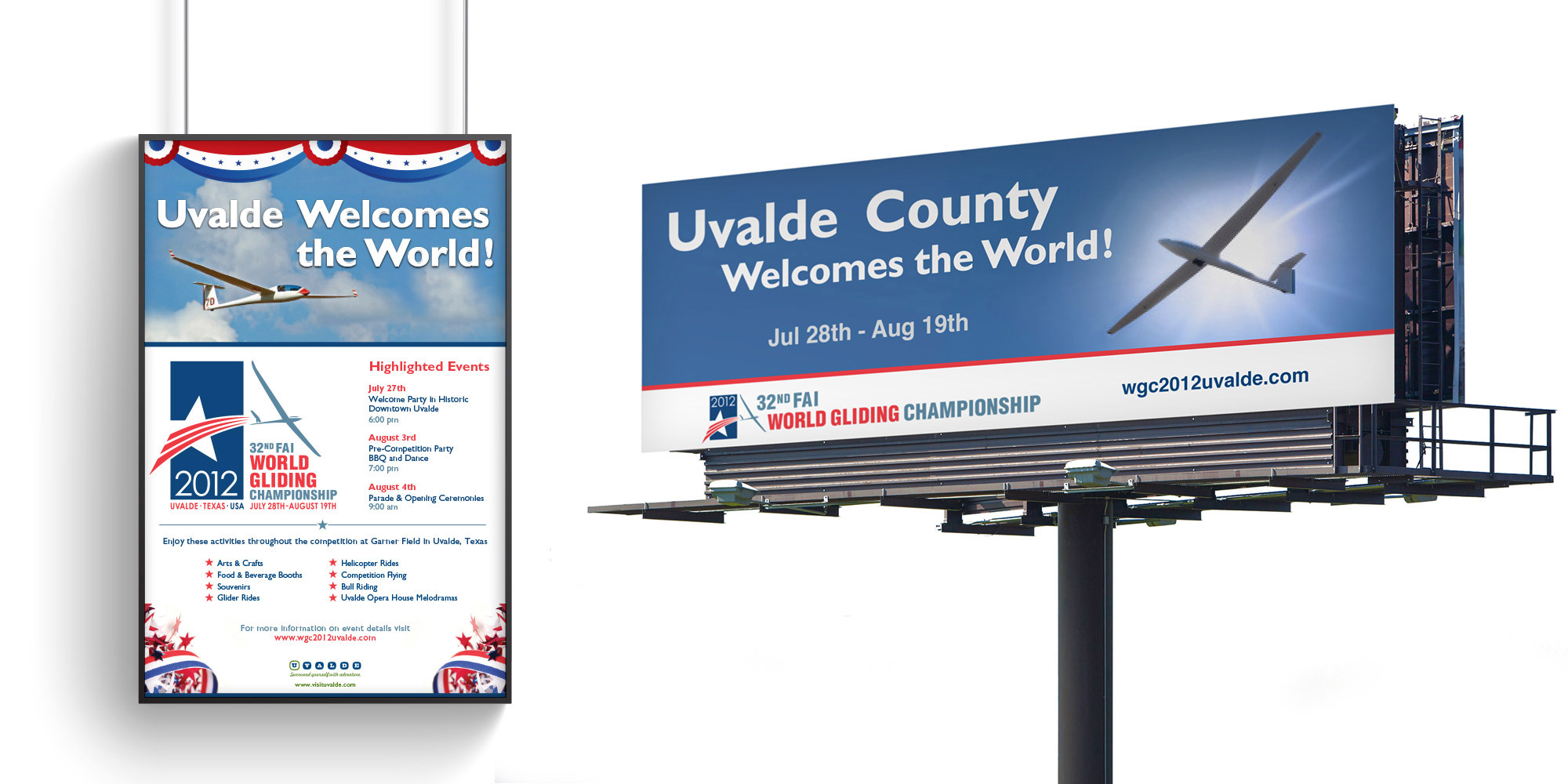 Uvalde Convention and Visitors Bureau Sponsorship print graphic design