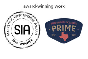 SIA and Prime Winner Logos for San Antonio marketing firm