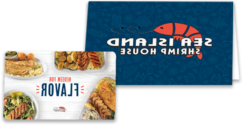 Gift card and holder for local seafood restaurant